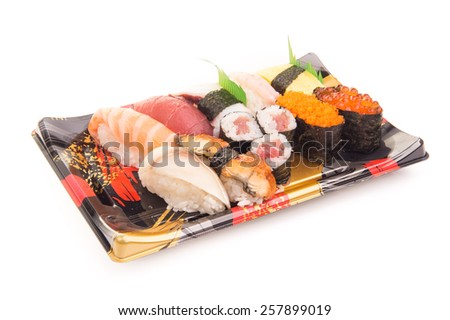 Sushi set on White Isolated background
