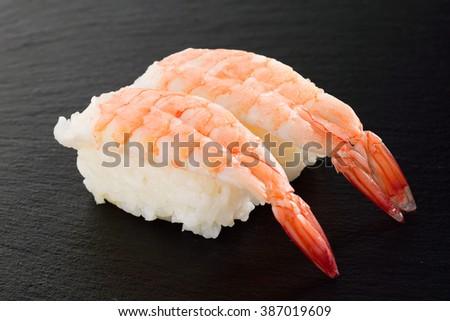 sushi shrimp - stock photo