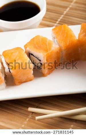 Sushi. Sushi restaurant - stock photo