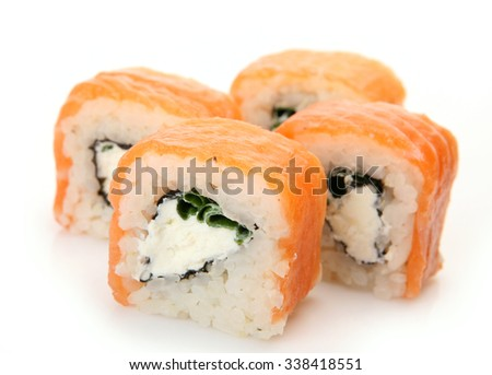 sushi with fish and rice