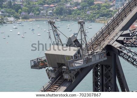 Suspended Scaffolding On Sydney Harbour Bridge Stock Photo 702307867 Shutterstock