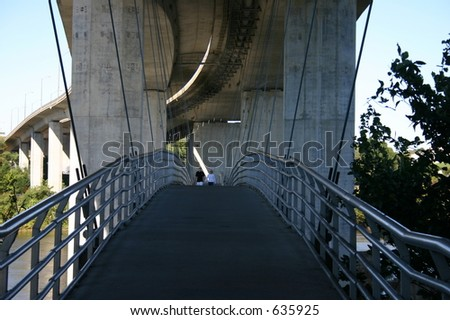 Suspension Bridge Richmond - stock photo
