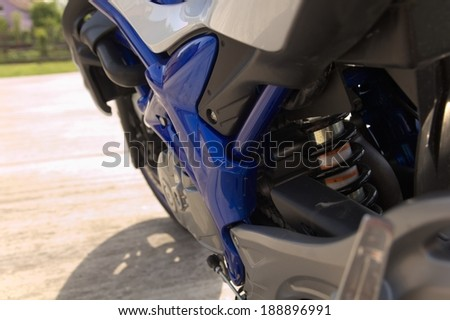 Suspension on motorcycle