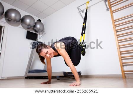 suspension training - stock photo