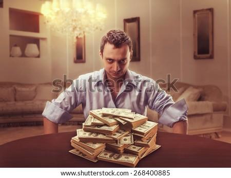 Suspicious lender - stock photo