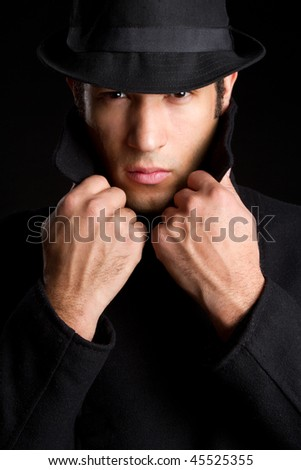 Suspicious Man - stock photo