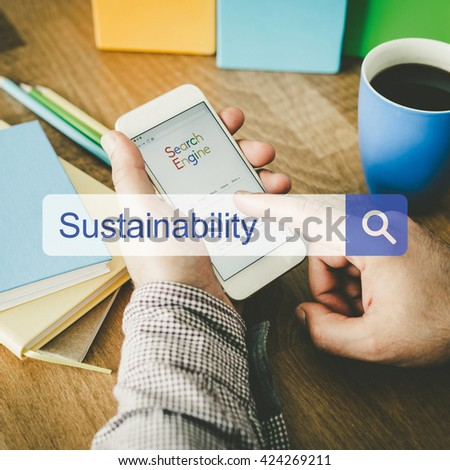 Sustainability Concept - stock photo