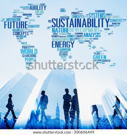 Sustainability Environmental Conservation Ecology Concept - stock photo