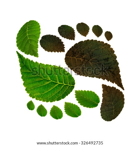 sustainability of ecology against environmental pollution, concept of carbon footprint - stock photo