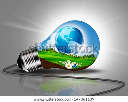 Sustainable Development and eco energy concept - stock photo