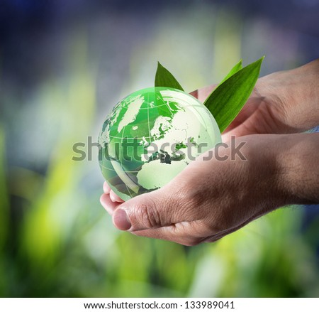 sustainable development worldwide - stock photo