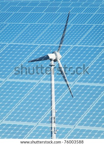 Sustainable energy concept - stock photo