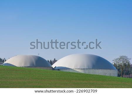 Sustainable resources with bio gas - stock photo