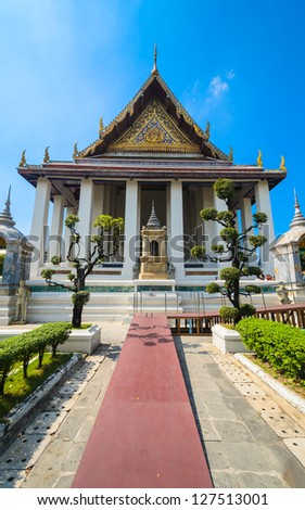 Suthat temple in bangkok province. - stock photo