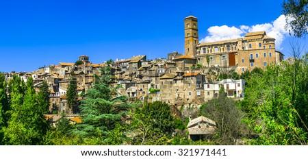 Sutri - ancient etruscan town in Lazio, Italy (Viterbo province) - stock photo