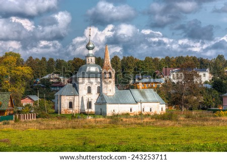 Suzdal. Golden Ring of Russia. Church of the Epiphany and the Church of St John the Baptist - stock photo