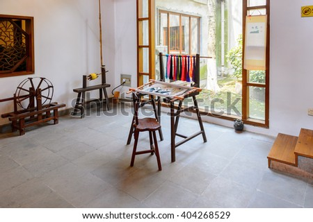 SUZHOU, CHINA - APR 1, 2016: Silk museum, factory and shop in Suzhou, China. One of the popular touristic destinations