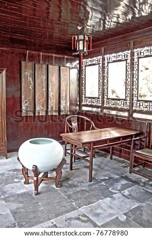 Suzhou garden, China - stock photo