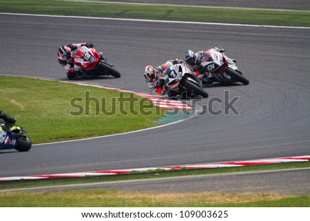 SUZUKA, JAPAN - JULY 29 : Rider of MONSTER YAMAHA -YART (Not Classified team) racing at 2012 Suzuka 8 hours World Endurance Championship Race, on July 29, 2012 in Suzuka Circuit, Japan.