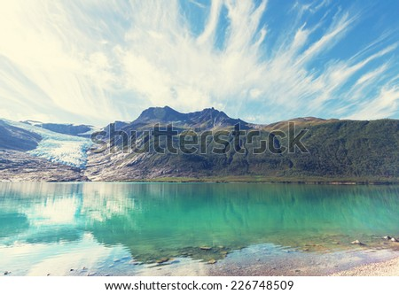 Svartisen Glacier in Norway