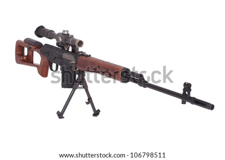 SVD sniper rifle isolated on a white background - stock photo