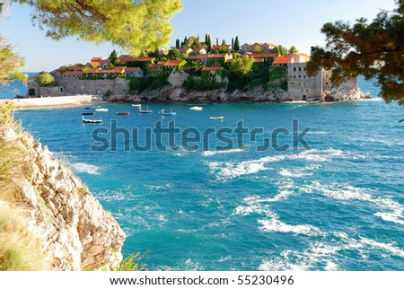 Sveti Stefan Island - stock photo