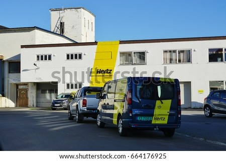 svolvaer norway 10 august a hertz car rental office in svolvaer