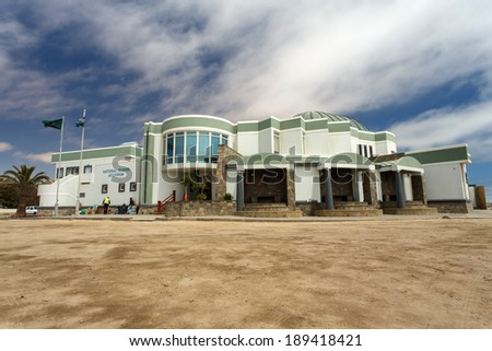 SWAKOPMUND, NAMIBIA - OCTOBER 29 2013: The National Marine Aquarium survives a year of drought in Swakompund, Namibia, Africa