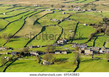 Swaledale in Yorkshire Dales North Yorkshire England - stock photo