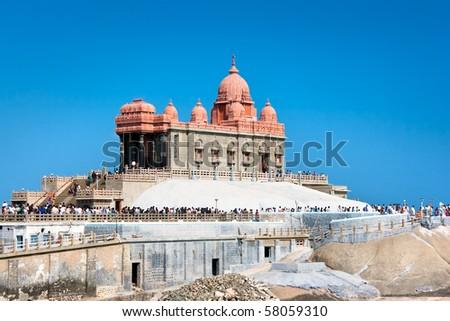 Swami Vivekananda memorial, Mandapam, Kanyakumari, Tamil Nadu, India - stock photo