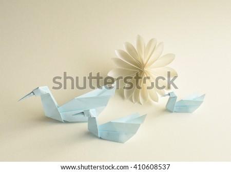 Swan Flower Paper Craft Stock Photo Edit Now 410608537 Shutterstock