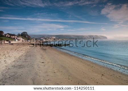 Swanage Beach, Dorset ,England - stock photo