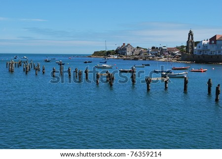 Swanage old pier place - stock photo