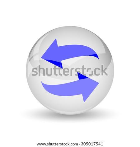 Swap icon. Internet button on white background. - stock photo