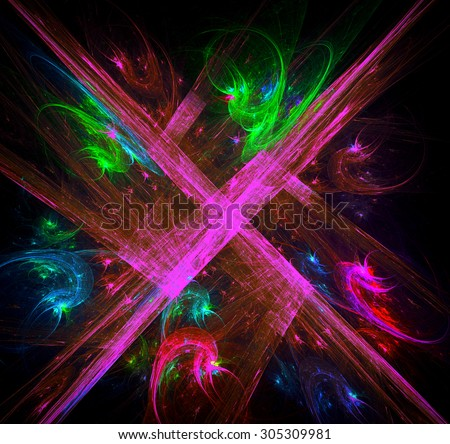 Swastika abstract illustration - stock photo