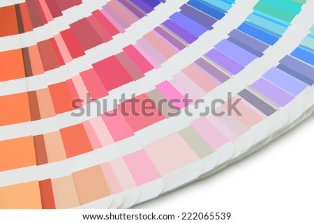 swatches palette on a white background - stock photo