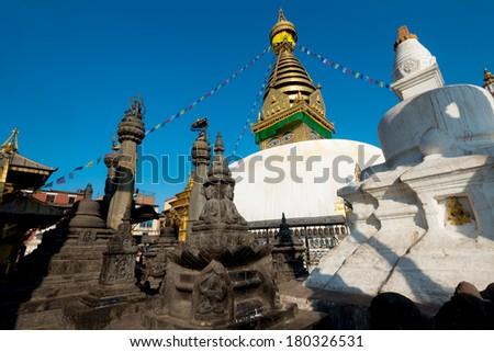 Swayambhunath Stupa, Kathmandu, Nepal - stock photo