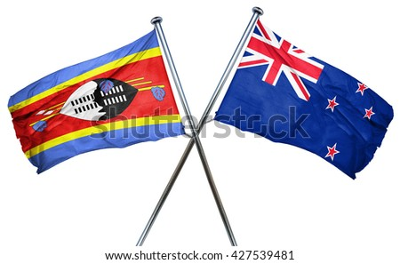 Swaziland flag  combined with new zealand flag