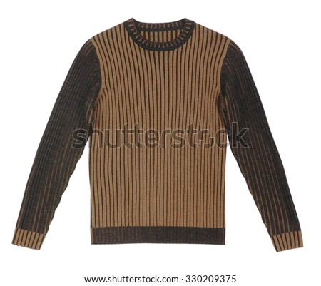 sweater isolated on white background - stock photo
