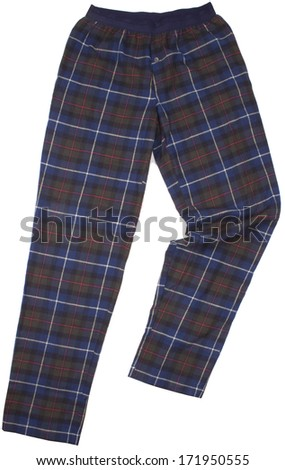 Sweatpants isolated on white background - stock photo