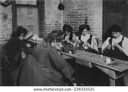 Sweatshop of Mr. Goldstein, 30 Suffolk Street, New York City, photograph by Lewis Wickes Hine, February, 1908