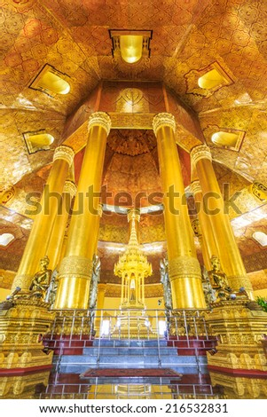 Swedaw Myat Temple Yangon, Myanmar (Burma) They are public domain or treasure of Buddhism, no restrict in copy or use