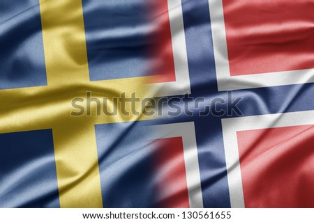 Sweden and Norway - stock photo