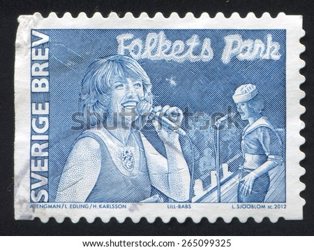 SWEDEN - CIRCA 2012: stamp printed by Sweden, shows Lill Babs, circa 2012