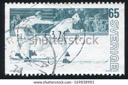 SWEDEN - CIRCA 1974: stamp printed by Sweden, shows Relay race, circa 1974
