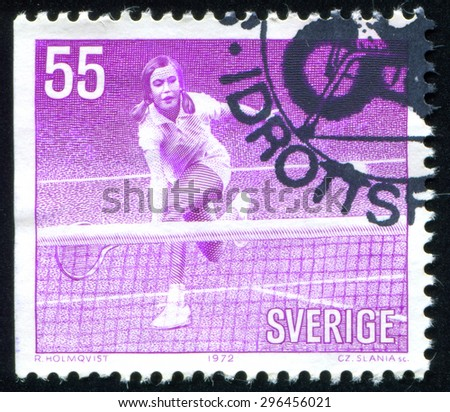 Sweden - CIRCA 1972: stamp printed by Sweden, shows tennis, circa 1972