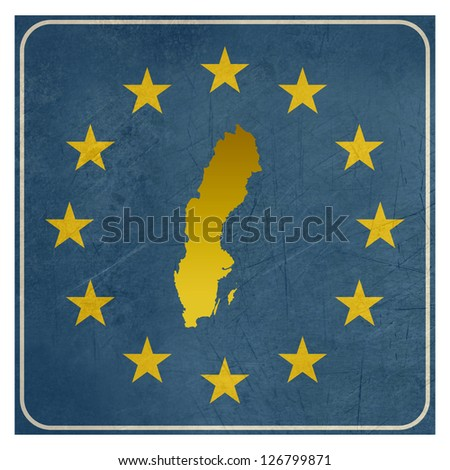 Sweden European sign isolated on white background.