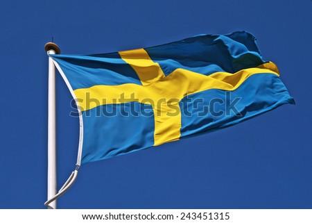 sweden flag - stock photo
