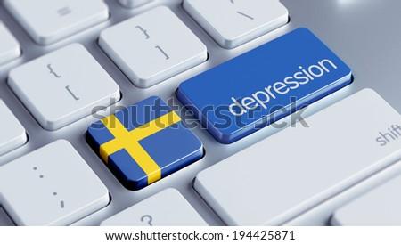 Sweden High Resolution Depression Concept - stock photo