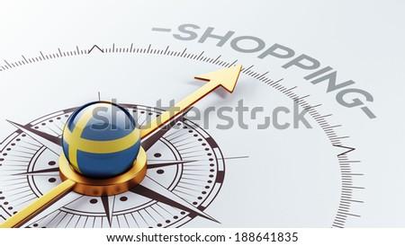 Sweden High Resolution Shopping Concept - stock photo
